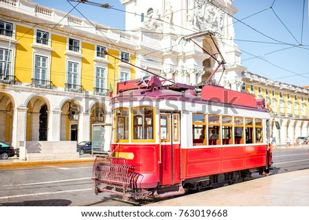 old tourist tram on the central ...