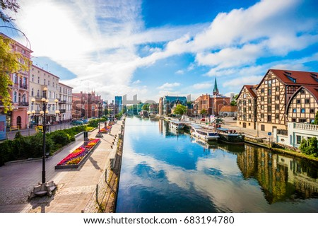 Shutterstock Old Town and granaries by the Brda River. Bydgoszcz, Poland.