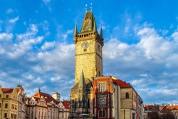 Old Town Hall Tower (Staromestska Radnice) in Prague (Praha), Czech Republic