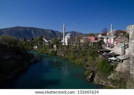 Old town in Mostar, Bosnia and Herzegovina