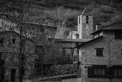 Old town in Pirineos, Catlunya