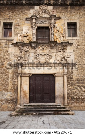 Old town in Spain - stock photo