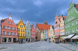 Old town Landshut by Munich, Bavaria, Germany