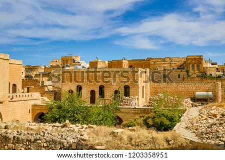 old town midyat houses, historic houses, historic buildings #1203358951