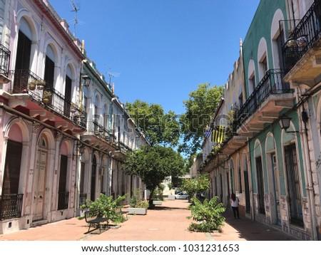 Old town Montevideo Uruguay #1031231653