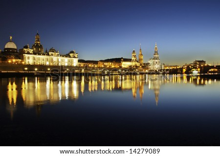 Old town of Dresden (Germany)