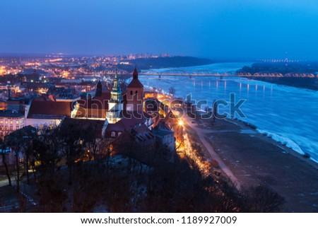 Old town of Grudziadz at night. Grudziadz, Kuyavian-Pomeranian Voivodeship, Poland.