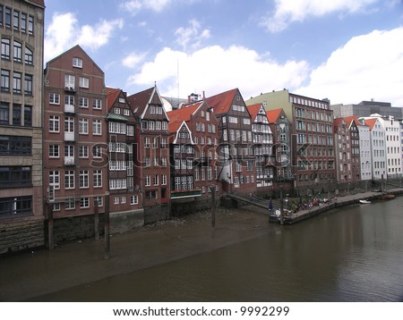 Old Town of Hamburg, Germany Stock foto ©