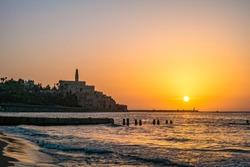 Old town of Jaffa on sunset, Tel Aviv, Israel.