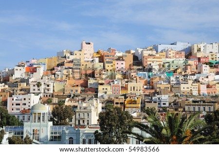 Old town of Las Palmas de Gran Canaria, Spain