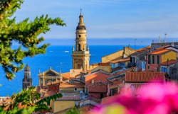 Old town of Menton on the French Riviera or Cote d'Azur