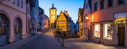 Old town of Rothenburg ob der Tauber in Bavaria, Germany
