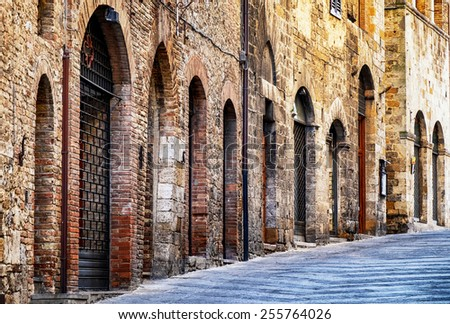 old town of san gimignano  ...