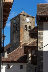 Old town of the beautiful village of Ansó, Pyrenees region, Huesca, Aragon, Spain.
