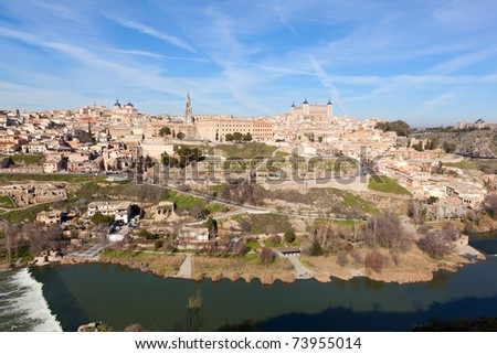 Old town of Toledo, former capital of Spain.