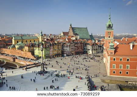 Old Town panorama of Warsaw, Poland