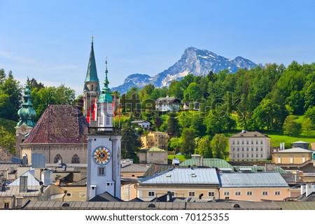 Old town Salzburg, Austria - stock photo