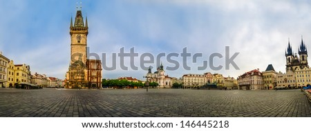 Old Town Square (Staromestk Namesti) early in themorning, Prague, Czech Republic