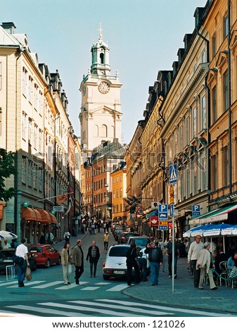 Old town street, Stockholm