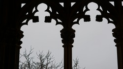 old town window house silhouette