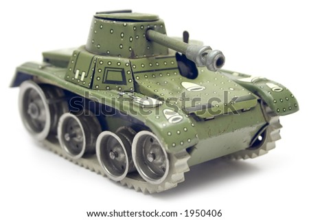 Old Toy Tank - stock photo