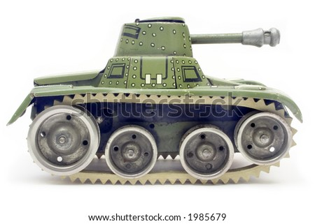 Old Toy Tank (Side View)