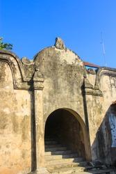 Old traditional gate to Taman Sari water castle or traditional bath in Yogyakarta, Indonesia