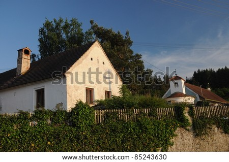Old traditional house in countryside, Czech Republic