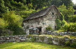 Old traditional house of a swiss shepherd