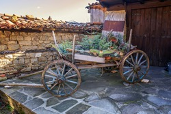 Old traditional houses in Zheravna, Bulgaria. The village is an architectural reserve of Bulgarian National Revival period (18th and 19th century)