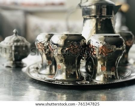 old traditional tea set ... Stok fotoğraf ©