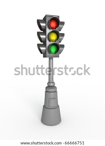 Old traffic lights.