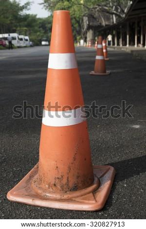 Old Traffic road cone pylon;Road bollard traffic cone