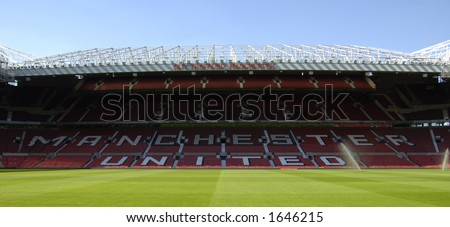 Old Trafford stadium, home of Manchester United Football Club