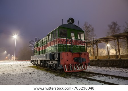 old train at vintage station....