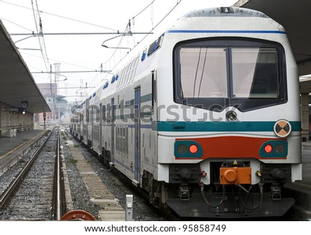 Old train.Florence - stock photo