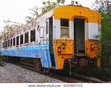 old train locomotive parked at...