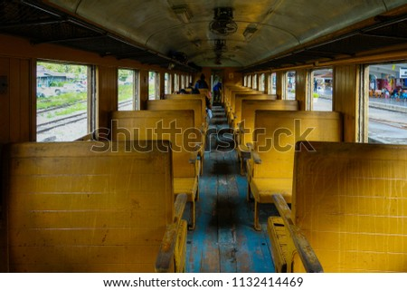 old train passenger carriage...