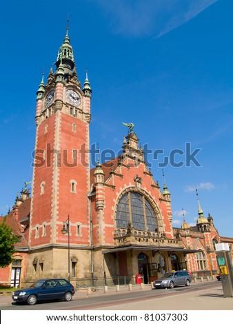 Old train station in Gdansk (Danzig), Poland