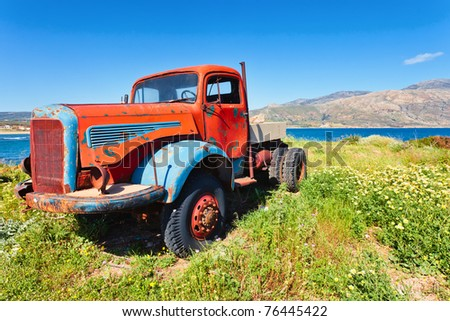 Old Truck, worn out and rusty