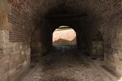 Old tunnel in ancient Roman Castle
