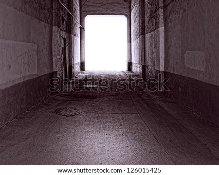 old tunnel  with light at the end