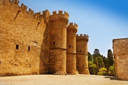 Old turrets of the Grand Master Palace, Rhodes
