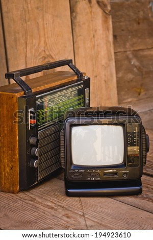 old TV and receiver