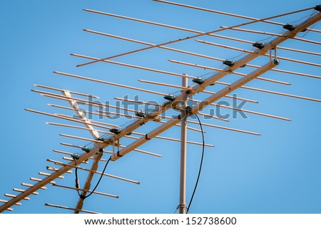Old TV Antenna, Out Dated Technology for Television Reception