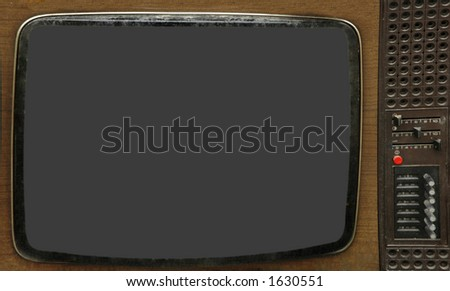 Old TV box (contains clipping path)