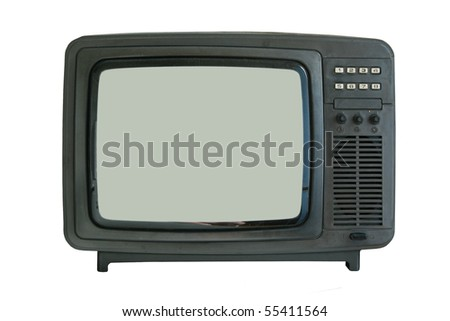 old tv-set isolated