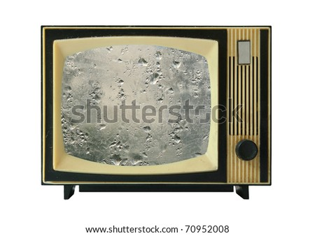 old tv-set with wet display