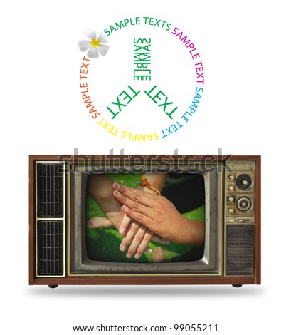 Old TVs and hand gestures.