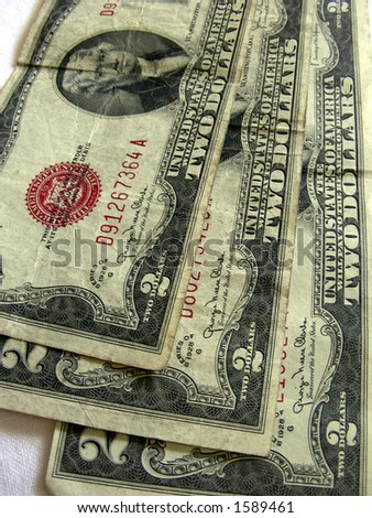2 dollar bill back. 2 dollar bill back. old 2